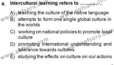 Çocuklara Yabancı Dil Öğretimi 2 Dersi 2014 - 2015 Yılı Ara Sınavı 4. Soru