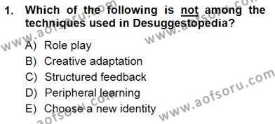 İngilizce Öğretiminde Yaklaşımlar Dersi 2012 - 2013 Yılı Dönem Sonu Sınavı 1. Soru