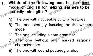 Dilbilgisi Öğretimi Dersi 2013 - 2014 Yılı Ara Sınavı 1. Soru