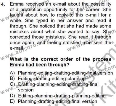 Konuşma Ve Yazma Öğretimi Dersi 2012 - 2013 Yılı (Final) Dönem Sonu Sınav Soruları 4. Soru