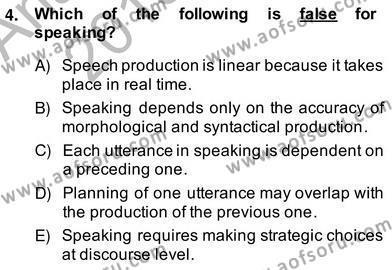 Konuşma Ve Yazma Öğretimi Dersi 2013 - 2014 Yılı (Vize) Ara Sınav Soruları 4. Soru
