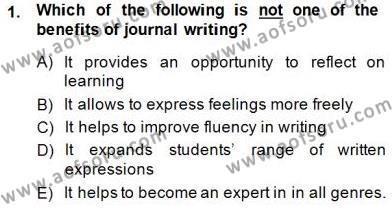 Konuşma Ve Yazma Öğretimi Dersi 2014 - 2015 Yılı Dönem Sonu Sınavı 1. Soru