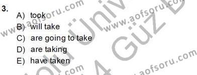 Pedagojik Gramer 1 Dersi 2013 - 2014 Yılı Ara Sınavı 3. Soru