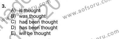 İngilizce Öğretmenliği Bölümü 8. Yarıyıl Pedagojik Gramer II Dersi 2013 Yılı Bahar Dönemi Ara Sınavı 3. Soru
