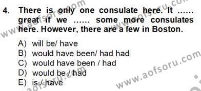 İngilizce Öğretmenliği Bölümü 8. Yarıyıl Pedagojik Gramer II Dersi 2013 Yılı Bahar Dönemi Dönem Sonu Sınavı 4. Soru