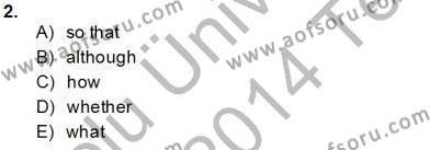 İngilizce Öğretmenliği Bölümü 8. Yarıyıl Pedagojik Gramer II Dersi 2014 Yılı Bahar Dönemi Tek Ders Sınavı 2. Soru
