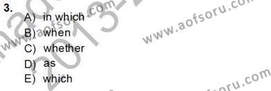 İngilizce Öğretmenliği Bölümü 8. Yarıyıl Pedagojik Gramer II Dersi 2014 Yılı Bahar Dönemi Tek Ders Sınavı 3. Soru