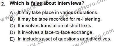 Yabancı Dil Öğretiminde Ölçme Ve Değerlendirme 2 Dersi 2013 - 2014 Yılı Tek Ders Sınavı 2. Soru