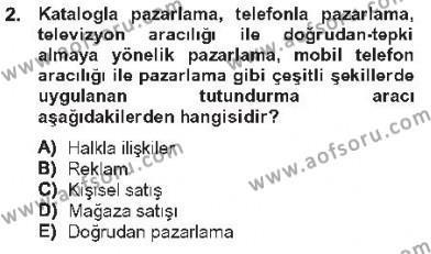 İşletme Fonksiyonları Dersi 2012 - 2013 Yılı Tek Ders Sınavı 2. Soru