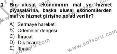 Ekonomik Analiz Dersi 2012 - 2013 Yılı Dönem Sonu Sınavı 3. Soru
