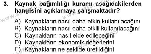 Örgüt Kuramı Dersi 2012 - 2013 Yılı Dönem Sonu Sınavı 3. Soru