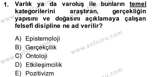 Örgüt Kuramı Dersi 2013 - 2014 Yılı Ara Sınavı 1. Soru