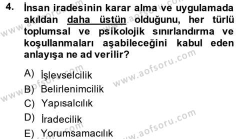 Örgüt Kuramı Dersi 2014 - 2015 Yılı Ara Sınavı 4. Soru
