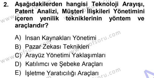 Yönetimde Güncel Yaklaşımlar Dersi 2012 - 2013 Yılı Dönem Sonu Sınavı 2. Soru