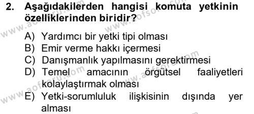 Kamu Yönetimi Bölümü 8. Yarıyıl İnsan Kaynakları Yönetimi Dersi 2013 Yılı Bahar Dönemi Ara Sınavı 2. Soru