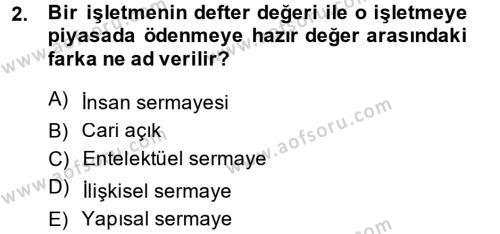 Kamu Yönetimi Bölümü 8. Yarıyıl İnsan Kaynakları Yönetimi Dersi 2014 Yılı Bahar Dönemi Ara Sınavı 2. Soru