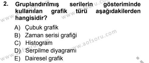 İktisat Bölümü 3. Yarıyıl İstatistik I Dersi 2013 Yılı Güz Dönemi Ara Sınavı 2. Soru