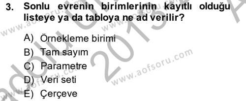 İstatistik 2 Dersi 2013 - 2014 Yılı Ara Sınavı 3. Soru