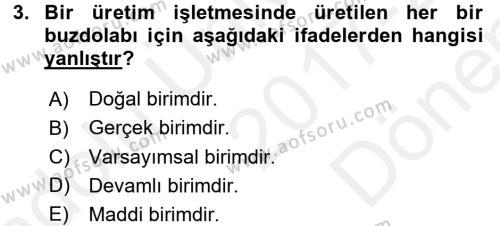 İstatistik Dersi 2017 - 2018 Yılı (Final) Dönem Sonu Sınavı 3. Soru