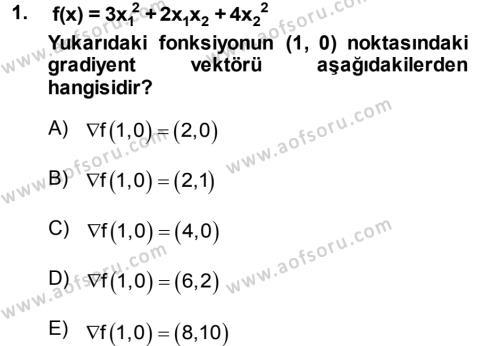 Yöneylem Araştırması 2 Dersi 2013 - 2014 Yılı Dönem Sonu Sınavı 1. Soru