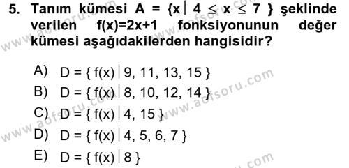 Yöneylem Araştırması 2 Dersi Ara Sınavı Deneme Sınav Soruları 5. Soru