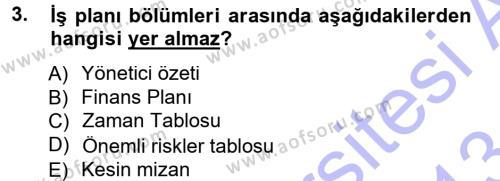 Proje Analizi ve Değerlendirme Dersi 2012 - 2013 Yılı Dönem Sonu Sınavı 3. Soru
