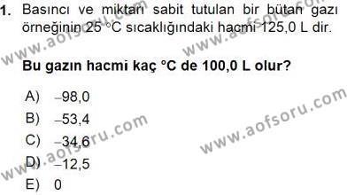 Genel Kimya 2 Dersi Ara Sınavı Deneme Sınav Soruları 1. Soru