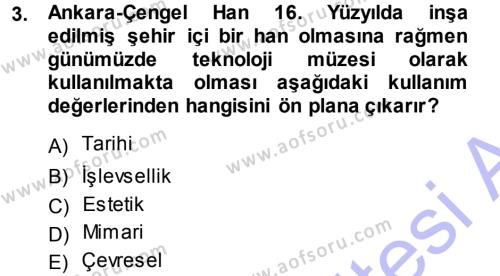 Kültürel Miras Mevzuatı Dersi 2013 - 2014 Yılı (Vize) Ara Sınavı 3. Soru
