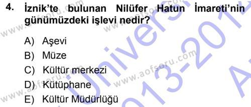 Kültürel Miras Mevzuatı Dersi 2013 - 2014 Yılı (Vize) Ara Sınavı 4. Soru