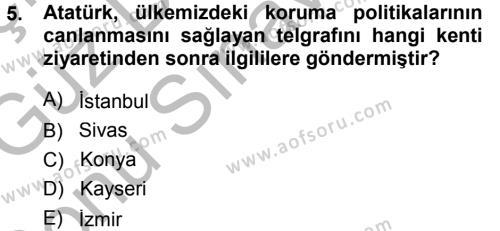 Kültürel Miras ve Turizm Bölümü 1. Yarıyıl Kültürel Miras Mevzuatı Dersi 2015 Yılı Güz Dönemi Dönem Sonu Sınavı 5. Soru