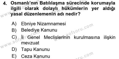Kültürel Miras ve Turizm Bölümü 1. Yarıyıl Kültürel Miras Mevzuatı Dersi 2016 Yılı Güz Dönemi Dönem Sonu Sınavı 4. Soru