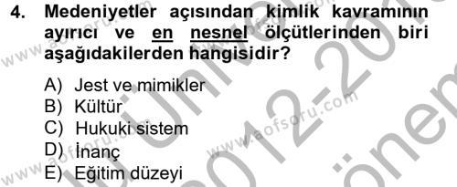 Kentsel ve Çevresel Koruma Dersi 2012 - 2013 Yılı (Final) Dönem Sonu Sınavı 4. Soru
