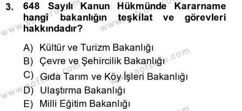 Kültürel Miras ve Turizm Bölümü 2. Yarıyıl Kentsel ve Çevresel Koruma Dersi 2015 Yılı Bahar Dönemi Dönem Sonu Sınavı 3. Soru