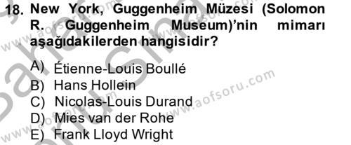 Müzecilik ve Sergileme Dersi 2012 - 2013 Yılı Dönem Sonu Sınavı 18. Soru 1. Soru
