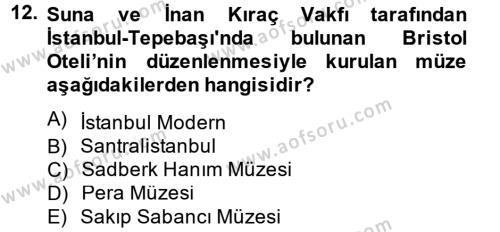Müzecilik ve Sergileme Dersi 2013 - 2014 Yılı (Vize) Ara Sınavı 12. Soru