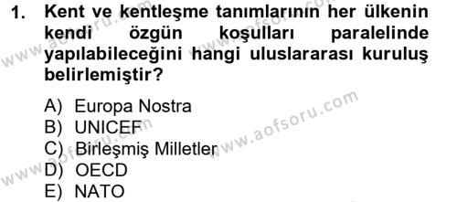 Restorasyon ve Koruma İlkeleri Dersi 2012 - 2013 Yılı Ara Sınavı 1. Soru