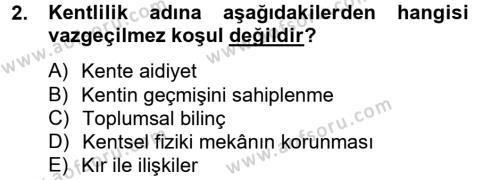 Restorasyon ve Koruma İlkeleri Dersi 2012 - 2013 Yılı Ara Sınavı 2. Soru