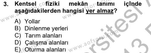 Restorasyon ve Koruma İlkeleri Dersi 2012 - 2013 Yılı Ara Sınavı 3. Soru