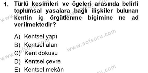 Restorasyon ve Koruma İlkeleri Dersi 2013 - 2014 Yılı Ara Sınavı 1. Soru