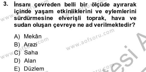 Restorasyon ve Koruma İlkeleri Dersi 2013 - 2014 Yılı Ara Sınavı 3. Soru
