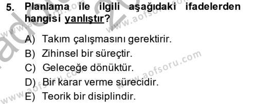 Kültürel Miras ve Turizm Bölümü 2. Yarıyıl Restorasyon ve Koruma İlkeleri Dersi 2014 Yılı Bahar Dönemi Ara Sınavı 5. Soru