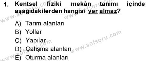 Restorasyon ve Koruma İlkeleri Dersi 2013 - 2014 Yılı Dönem Sonu Sınavı 1. Soru