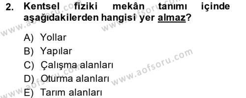 Restorasyon ve Koruma İlkeleri Dersi 2014 - 2015 Yılı (Vize) Ara Sınav Soruları 2. Soru