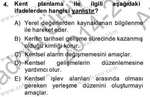 Restorasyon ve Koruma İlkeleri Dersi 2014 - 2015 Yılı (Vize) Ara Sınav Soruları 4. Soru