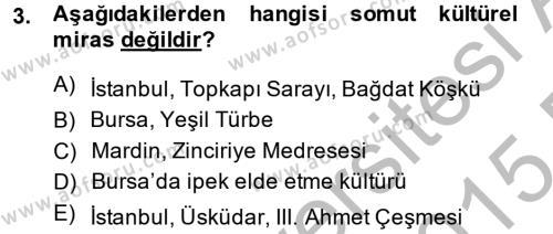 Restorasyon ve Koruma İlkeleri Dersi 2014 - 2015 Yılı (Final) Dönem Sonu Sınavı 3. Soru