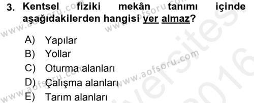 Restorasyon ve Koruma İlkeleri Dersi 2015 - 2016 Yılı Ara Sınavı 3. Soru