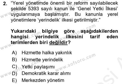 Kültürel Miras Yönetimi Dersi 2016 - 2017 Yılı (Final) Dönem Sonu Sınav Soruları 2. Soru