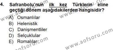 Kültürel Miras ve Turizm Bölümü 3. Yarıyıl Türkiye'nin Kültürel Mirası I Dersi 2013 Yılı Güz Dönemi Dönem Sonu Sınavı 4. Soru