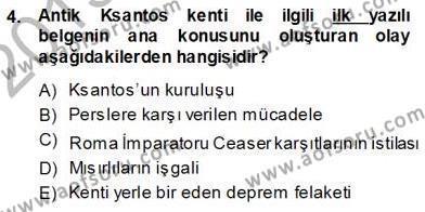 Kültürel Miras ve Turizm Bölümü 3. Yarıyıl Türkiye'nin Kültürel Mirası I Dersi 2014 Yılı Güz Dönemi Ara Sınavı 4. Soru