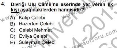 Kültürel Miras ve Turizm Bölümü 3. Yarıyıl Türkiye'nin Kültürel Mirası I Dersi 2015 Yılı Güz Dönemi Dönem Sonu Sınavı 4. Soru